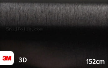 3M 1080 BR212 Brushed Black Metallic snijfolie