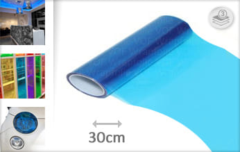 Blauw lampen snijfolie