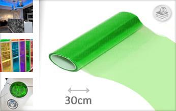 Groen doorzichtig snijfolie
