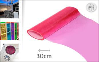 Roze doorzichtig snijfolie