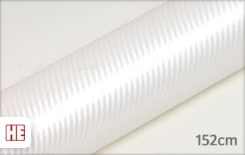 Hexis HX30CABPEB Carbon Pearl White Gloss snijfolie