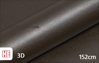 Hexis HX30PGMBRB Grain Leather Brown Gloss snijfolie
