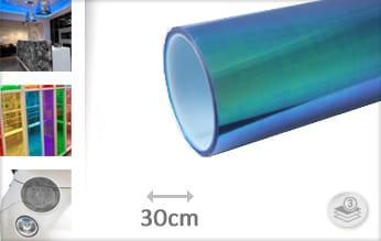 Flipflop blauw transparant snijfolie