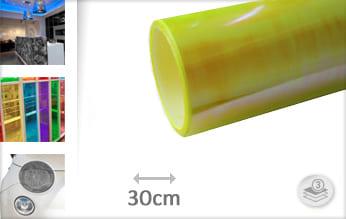 Flipflop geel transparant snijfolie