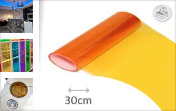 Oranje transparant snijfolie