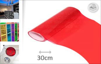 Rood transparant snijfolie
