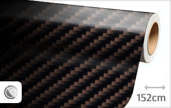 Bruin 2D carbon snijfolie