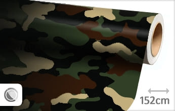 Camouflage leger snijfolie