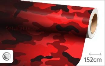 Camouflage rood snijfolie