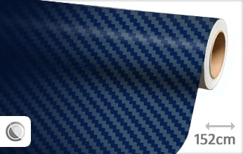 Donkerblauw 3D carbon snijfolie