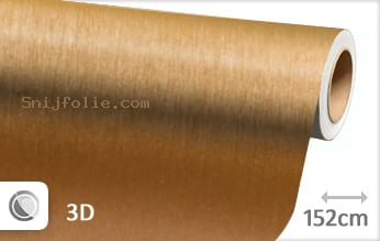 Geborsteld aluminium goud snijfolie