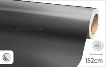 Glans metallic antraciet snijfolie