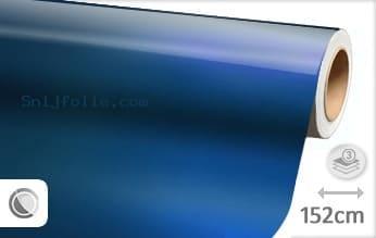 Glans metallic blauw snijfolie