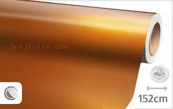 Glans metallic oranje snijfolie