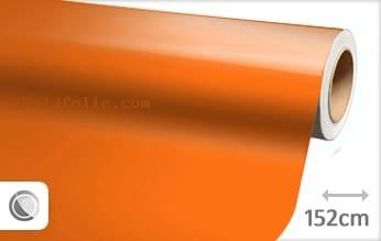 Glans oranje snijfolie