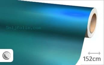 Mat chroom lichtblauw snijfolie
