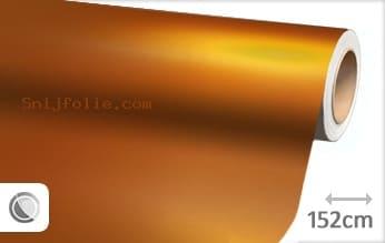 Mat chroom oranje snijfolie