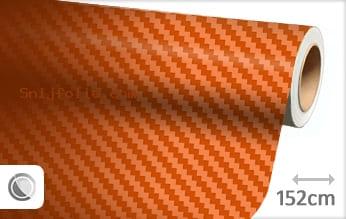 Oranje 3D carbon snijfolie