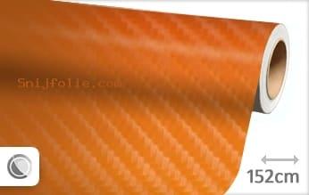 Oranje 4D carbon snijfolie