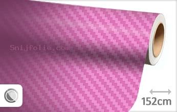 Roze 3D carbon snijfolie